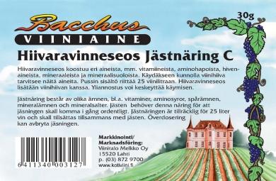 Bacchus Hiivaravinneseos 30 g
