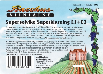 Bacchus Superselvikepakkaus 120 g