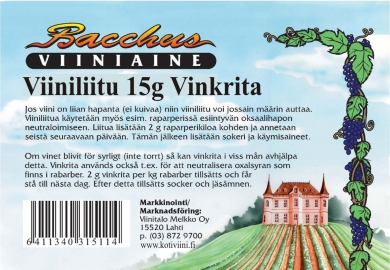 Bacchus Viiniliitu 15 g