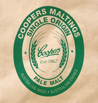 Mallas Single Origin Pale Malt 25kg Coopers